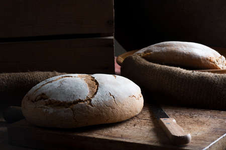 clave: Traditional bread in rustic appearance