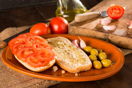 clave: Mediterranean sandwich with tomato Stock Photo
