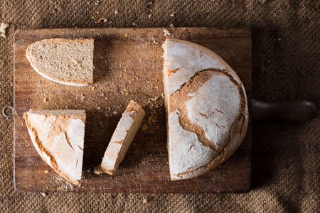 clave: Traditional bread in an rustic appearance
