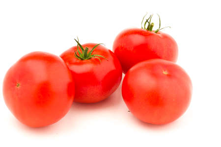 clave: Tomato isolated over white background