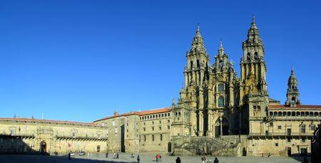 Santiago de Compostela Cattedrale. Patrimonio Mondiale dell'UNESCO. Uno dei principali luoghi di pellegrinaggio del cattolicesimo.