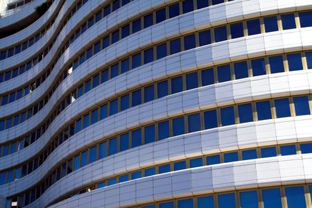 undulation: Modern Building with wavy curves shape Stock Photo