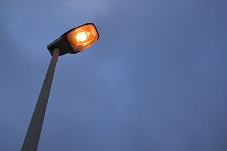 lit street lamp Stock Photo - 874811