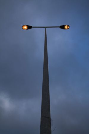 lit street lamp photo