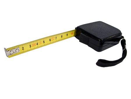 metric: measure tape in metal with metric system