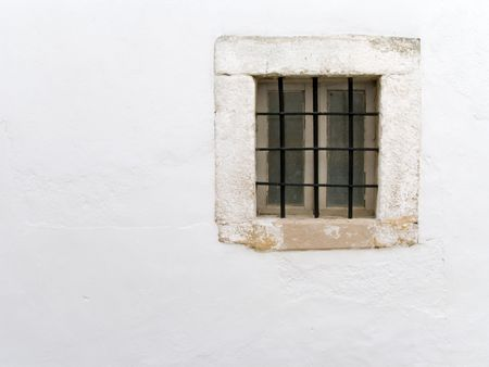 Window of an ancient prison cell Stock Photo - 2583092