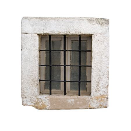 Window of an ancient prison cell Stock Photo - 2583118