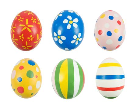 Real hand painted Easter eggs photo