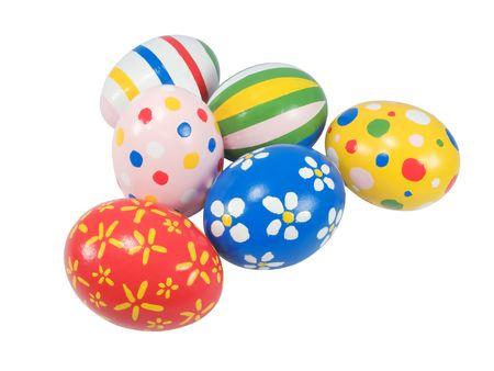 Real uova di Pasqua dipinte a mano