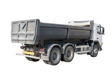 dumptruck: European dump truck three-quarter view Stock Photo