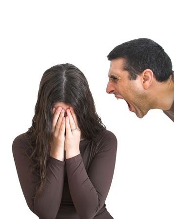 abusive man: Domestic violence Stock Photo