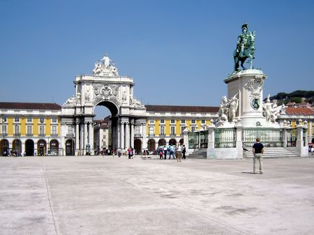 Commerce Square in Lisbon, Portugal                                photo
