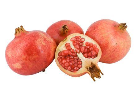 Pomegranate fruit isolated on white background photo