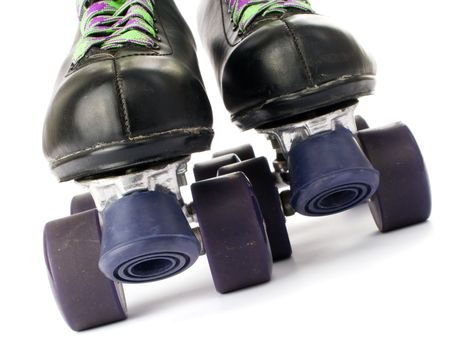 roller skates: Retro roller skates isolated on white background