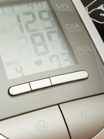 Modern digital blood pressure measurement equipment photo