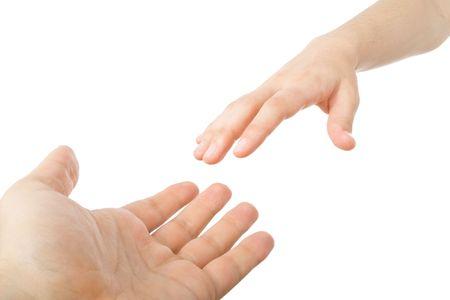 reaching hands: Reaching handen. Concept voor redding, vriendschap, begeleiding ...