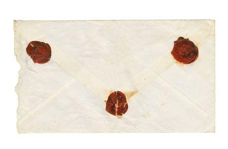 enveloped: Aged enveloped isolated on a white background