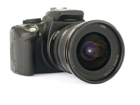 Digital slr isolated on a white background Archivio Fotografico
