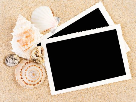 Pictures in a beach concept. Vacation memories. Stock Photo - 3228548