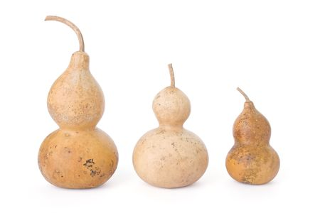 Bottle gourds isolated on a white background
