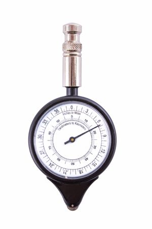 analogue: Analogue map measurer isolated on a white background Stock Photo