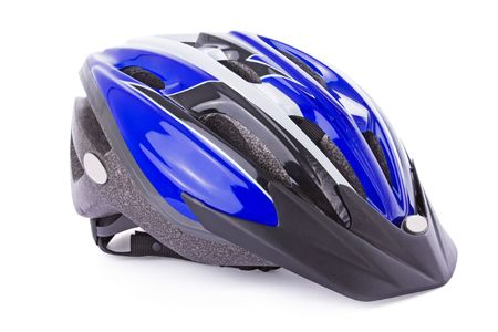 mountainbike: Bicycle helmet isolated on a white background