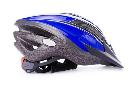 Fiets helm geïsoleerd op een witte achtergrond