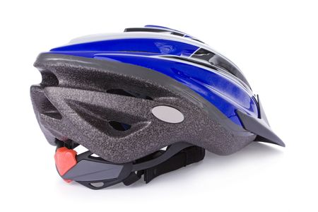 bicycle helmet: Bicycle helmet isolated on a white background