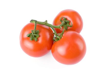 Ripe tomatoes isolated on a white background   photo