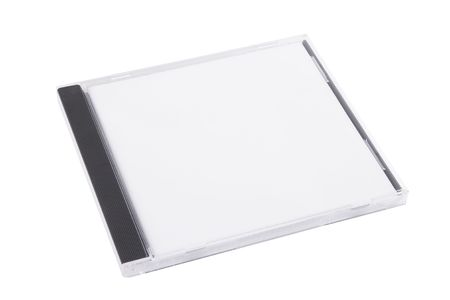 dvdr: DVD case isolated on a white background Stock Photo