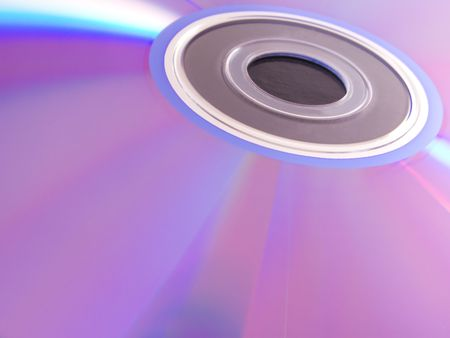 dvdrw: Close up detail of a colorful dvd Stock Photo