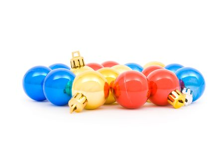 Various Christmas balls isolated on a white background  Stock Photo - 3839093