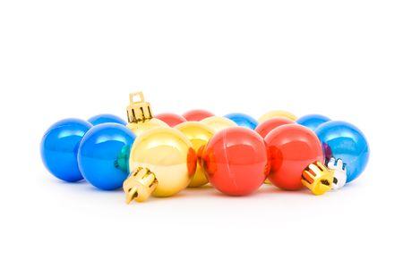 Vaus Christmas balls isolated on a white background  Stock Photo - 3839093