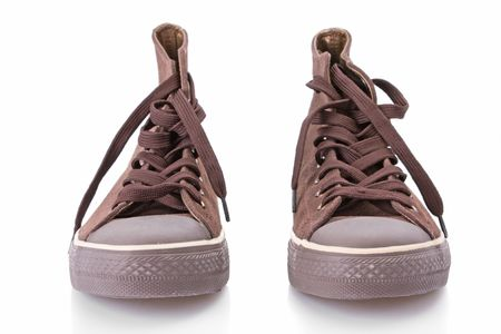 Replica of classic sneakers isolated on white Stock Photo - 3873703