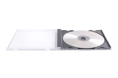 DVD case isolated on a white background Stock Photo