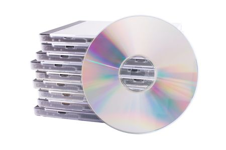 dvds: DVD case isolated on a white background Stock Photo