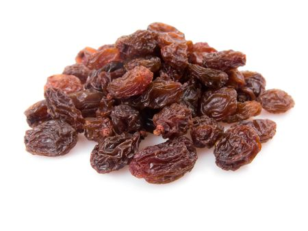 raisin: Pile of raisins isolated on white background  Stock Photo