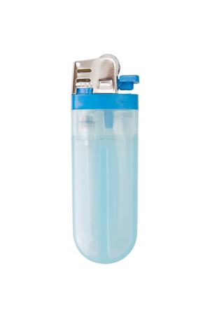 lighter gas: Encendedor de gas butano aisladas sobre fondo blanco