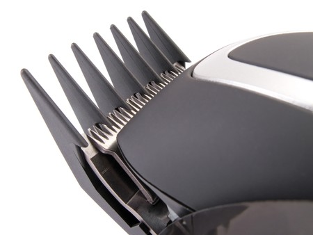 clippers comb: detail of a modern electric hair  beard trimmer