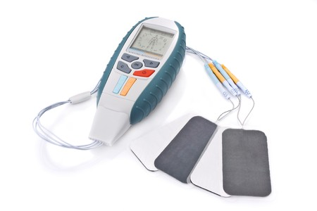Electro Stimulation equipment used for sports fitness and physiotherapy  Stock Photo
