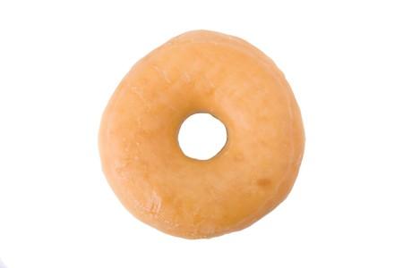 Doughnut or donut isolated on white background  Imagens