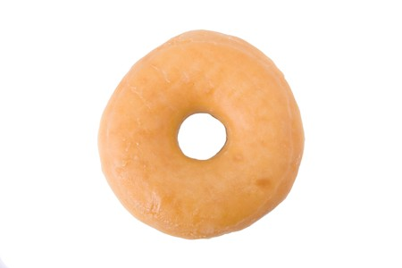 Doughnut or donut isolated on white background  Stock Photo