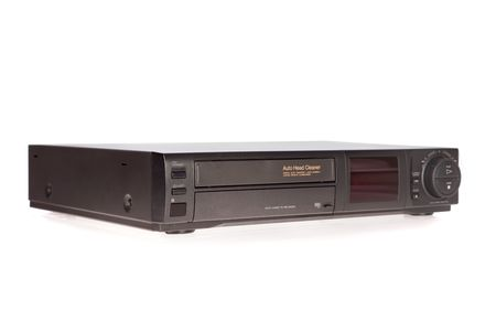 vcr: Old VCR, Video Cassette Recorder isolated on white background Stock Photo