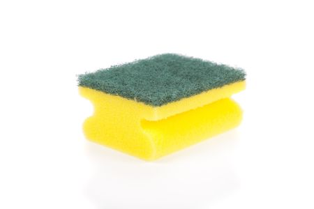 scouring: Scouring pad isolated on a white background