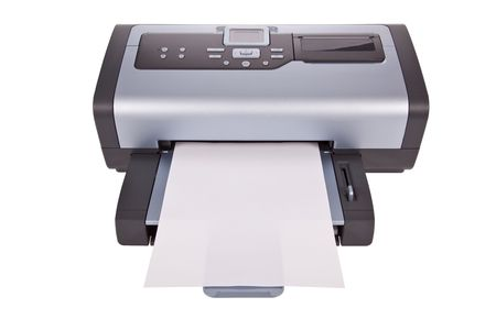 inkjet: Inkjet printer isolated on a white background