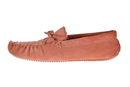 moccasin: moccasin slipper isolated on a white background