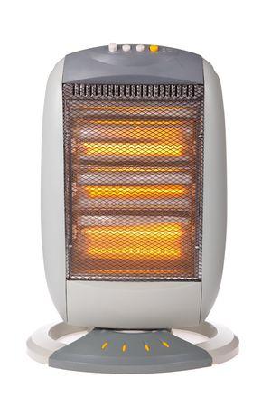 Halogeen verwarmingssysteem geïsoleerd op een witte achtergrond Stockfoto