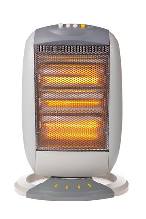 Halogen heater isolated on a white background Stock Photo