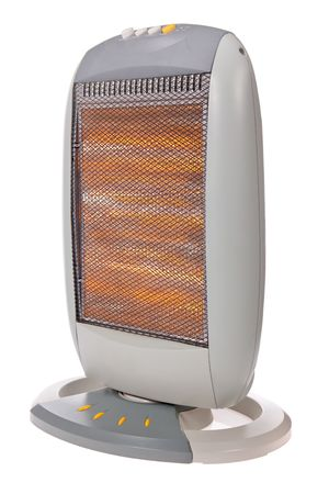 halogen: Halogen heater isolated on a white background Stock Photo