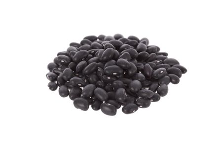 Black turtle beans isolated on a white background